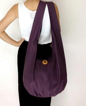 Canvas Handbags Shoulder bag Sling bag Hobo bag Boho  bag Tote bag Crossbody  Purple, VeradaShop, HaremPantsThai