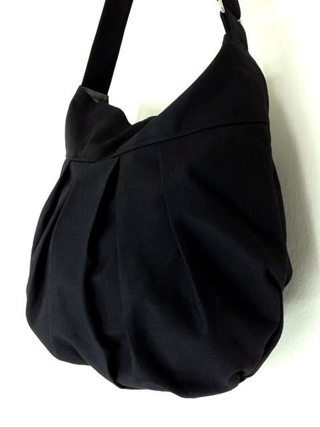 Canvas Handbags Shoulder bag Hobo bag Boho  bag Tote bag  Black  Nadia, VeradaShop, HaremPantsThai