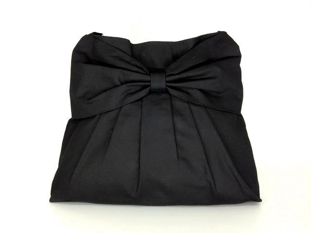 Canvas Handbags Shoulder bag Hobo bag Tote bag Bow  Black  Tina, VeradaShop, HaremPantsThai