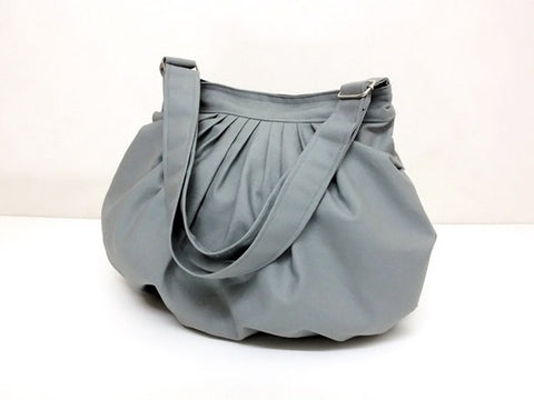 Canvas Handbags Shoulder bag Hobo bag Tote bag  Light Gray  Dahlia, VeradaShop, HaremPantsThai
