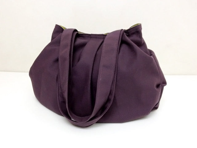 Canvas Handbags Shoulder bag Hobo bag Tote bag Double Straps  Purple Grace, VeradaShop, HaremPantsThai