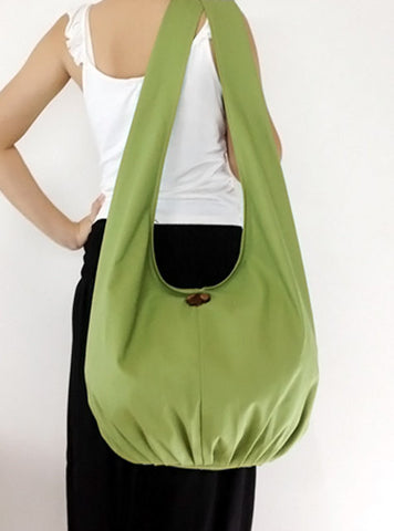 Canvas Handbags Shoulder bag Sling bag Hobo bag Boho  bag Tote bag Crossbody  Pea Green, VeradaShop, HaremPantsThai