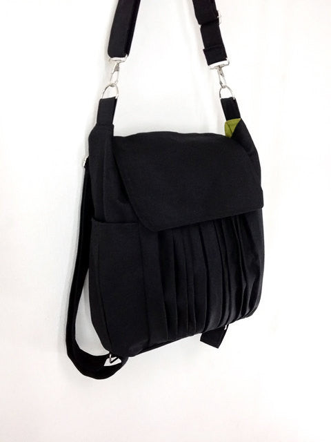 Canvas Handbags Shoulder bag Hobo bag Tote bag Backpack  Black  Zinnia, VeradaShop, HaremPantsThai