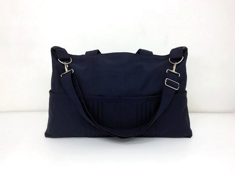Canvas Handbagss Shoulder bag Hobo bag Tote bag Messenger Bags Dark Navy Blue Amy, VeradaShop, HaremPantsThai