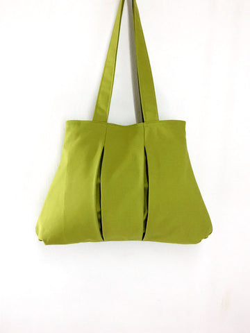 Handmade Bag Canvas Shoulder bag Hobo bag Tote bag Double Straps Apple Green Diana, VeradaShop, HaremPantsThai