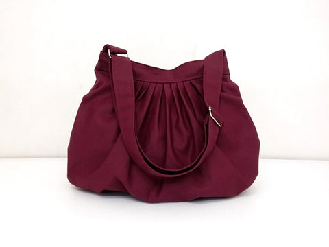Canvas Handbags Shoulder bag Hobo bag Tote bag  Maroon Dahlia, VeradaShop, HaremPantsThai