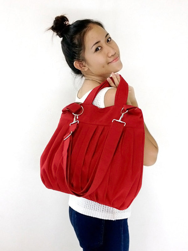 Canvas Bag Handbags Shoulder bag Hobo bag Tote bag  Red  Martha, VeradaShop, HaremPantsThai