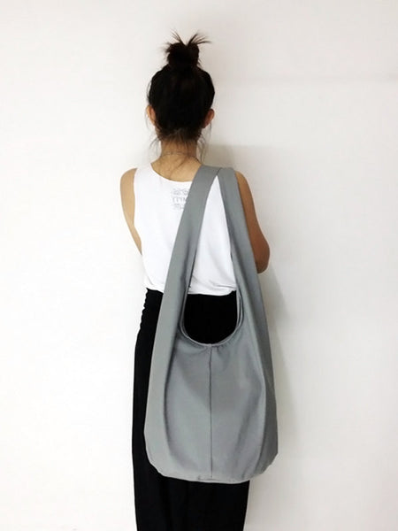 Canvas Handbags Shoulder bag Sling bag Hobo bag Boho  bag Tote bag Crossbody  Light Gray, VeradaShop, HaremPantsThai