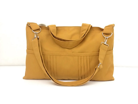 Canvas Handbags Shoulder bag Hobo bag Tote bag Messenger Bags Mustard Amy, VeradaShop, HaremPantsThai