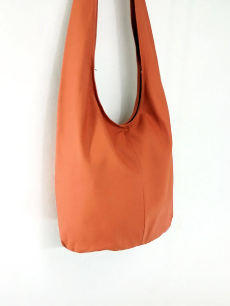 Canvas Handbags Shoulder bag Sling bag Hobo bag Boho bag Tote bag Crossbody bag Burnt Orange, VeradaShop, HaremPantsThai