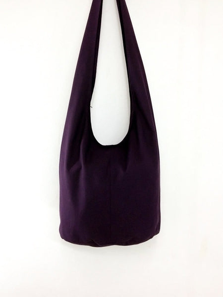 Canvas Handbags Shoulder bag Sling bag Hobo bag Boho bag Tote bag Crossbody bag  Purple(dark), VeradaShop, HaremPantsThai