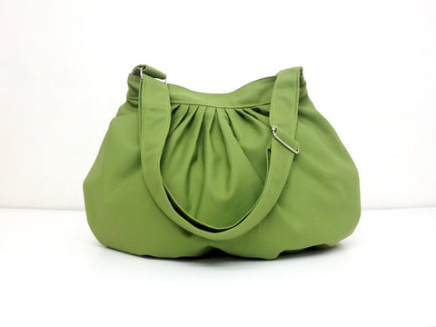 Canvas Handbags Shoulder bag Hobo bag Tote bag  Green Pea Dahlia, VeradaShop, HaremPantsThai