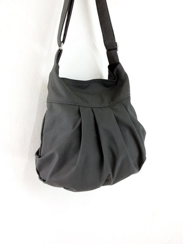Canvas Handbags Shoulder bag Hobo bag Tote bag  Dark Gray Tracy2, VeradaShop, HaremPantsThai
