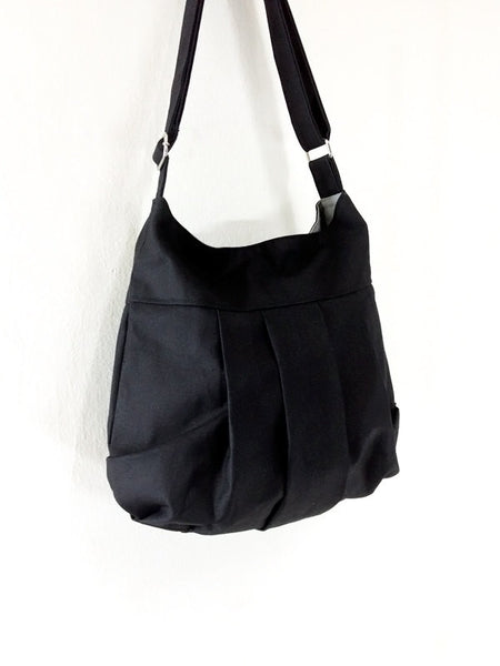 Canvas Handbags Shoulder bag Hobo bag Tote bag  Black Tracy2, VeradaShop, HaremPantsThai