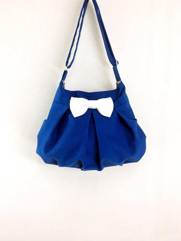 Canvas Handbags Shoulder bag Hobo bag Tote bag Bow  Dark Blue  Cheryl, VeradaShop, HaremPantsThai