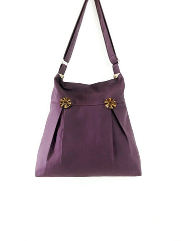Canvas Handbags Shoulder bag Hobo bag Tote bag Purple Beth, VeradaShop, HaremPantsThai