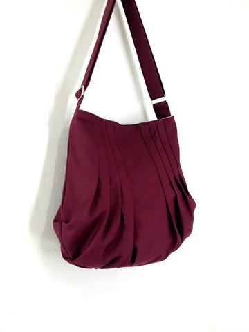 Canvas Handbags Shoulder bag Hobo bag Tote bag  Maroon Jane, VeradaShop, HaremPantsThai