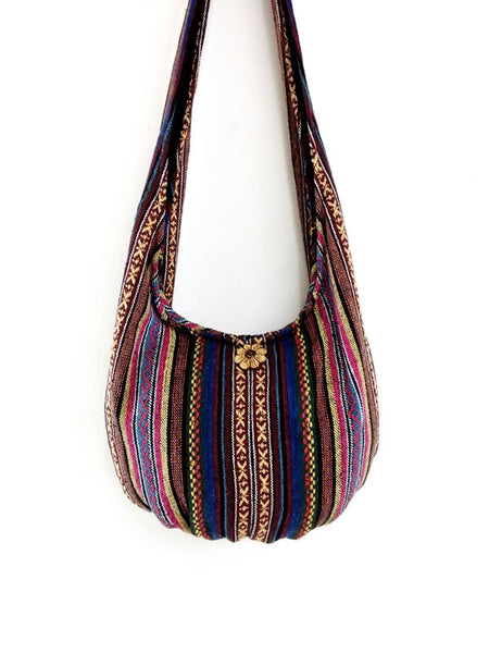 Woven Cotton bag Hobo Boho bag Shoulder Bag Sling bag Crossbody bag Long straps (WF97)
