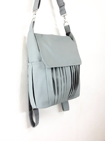 Canvas Bag Cotton bag diaper bag Shoulder bag Hobo bag Tote bag Purse Backpack Everyday bag  Light Gray  Zinnia