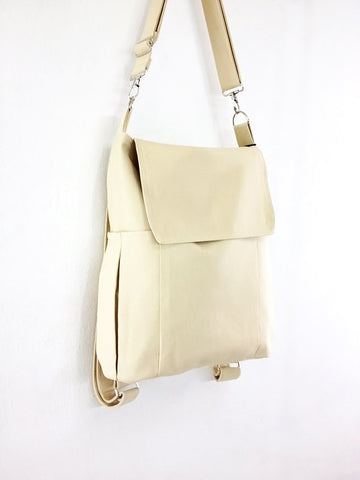 Canvas Bag Shoulder bag Hobo bag Tote bag Backpack Handbags  Cream  Susie, VeradaShop, HaremPantsThai
