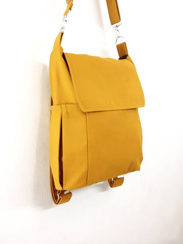 Canvas Bag Cotton bag diaper bag Shoulder bag Hobo bag Tote bag bag Purse Backpack Everyday bag  Mustard  Susie