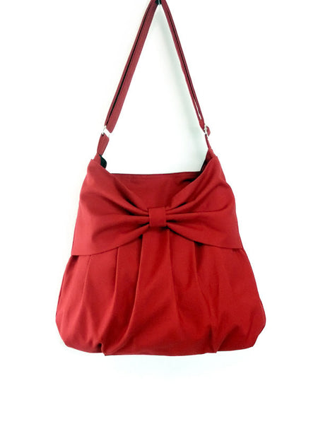 Canvas Handbags Shoulder bag Hobo bag Tote bag Bow Red Cara, VeradaShop, HaremPantsThai