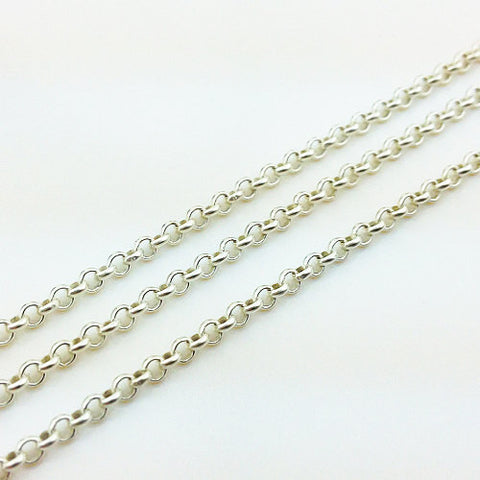 100 cm of 925 Thai Sterling Silver Chain 1.5 mm (SS0025), VeradaCraft, HaremPantsThai