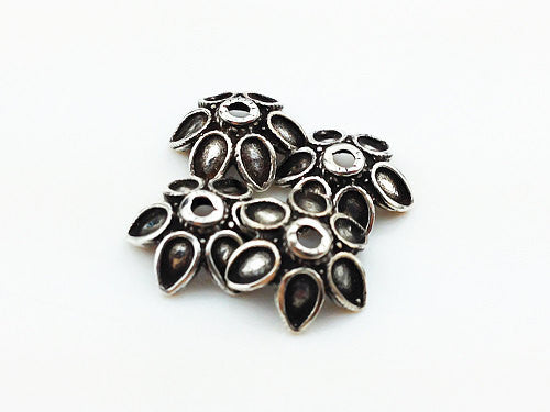 4 of 925 Thai Sterling Silver Charm Bead Flower (SS0031), VeradaCraft, HaremPantsThai