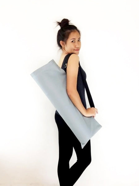 Handmade Yoga Mat Bag Yoga Bag Sports Bags Tote Yoga Sling bag Pilates Bag Pilates Mat Bag  WITH Solid Color
