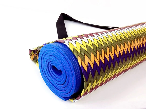 Thai Handmade Woven Yoga Mat Bag Sports Bags Pilates Mat Bag  WITH Zig Zag Chevron, VeradaShop, HaremPantsThai