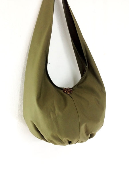 Canvas Handbags Shoulder bag Hobo bag Boho bag Tote bag Travel bag Olive Green, VeradaShop, HaremPantsThai