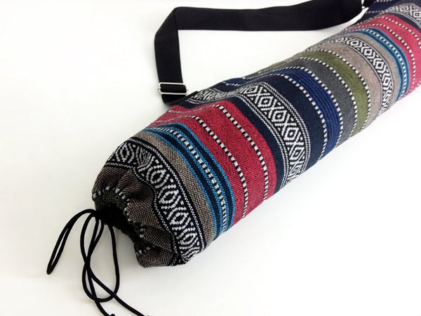 Thai Handmade Woven Yoga Mat Bag Sports Bags Pilates Mat Bag (WF32), VeradaShop, HaremPantsThai