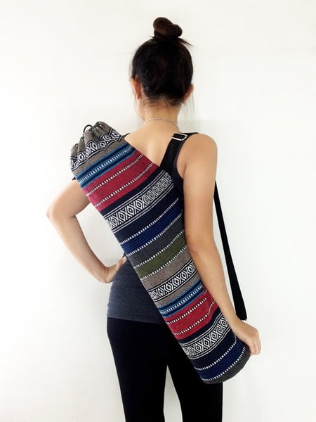 Handmade Yoga Mat Bag Yoga Bag Sports Bags Tote Yoga Sling bag Pilates Bag Pilates Mat Bag Woven Cotton bag (WF32)