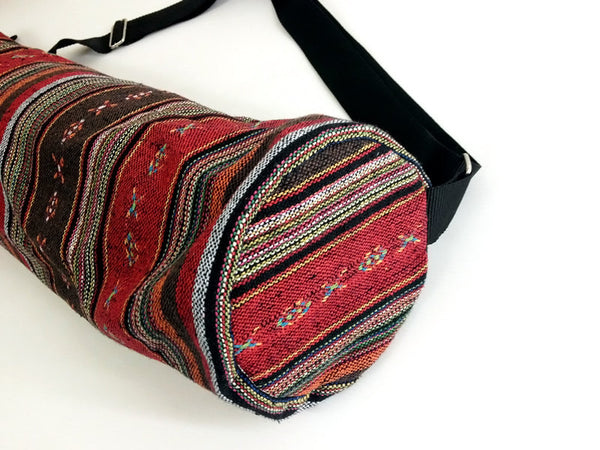 Thai Handmade Woven Yoga Mat Bag Sports Bags Pilates Mat Bag (WF38), VeradaShop, HaremPantsThai