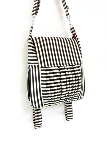 Striped Denim bag Canvas Bag Cotton bag Diaper bag Shoulder bag Hobo bag Tote bag bag Purse Backpack Women bag - Zinnia