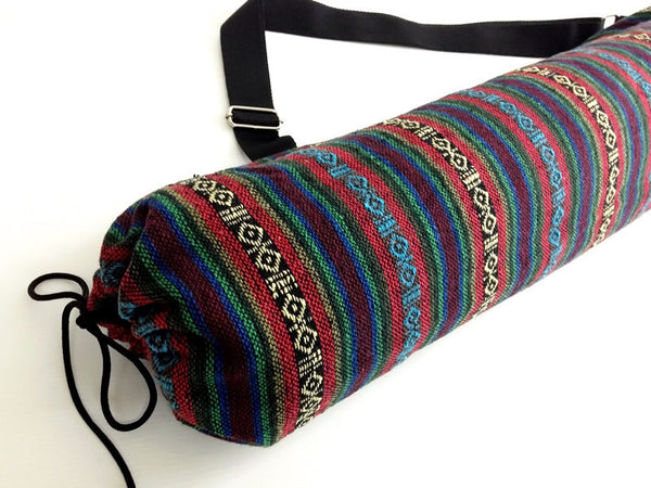 Thai Handmade Woven Yoga Mat Bag Sports Bags Pilates Mat Bag (WF7), VeradaShop, HaremPantsThai