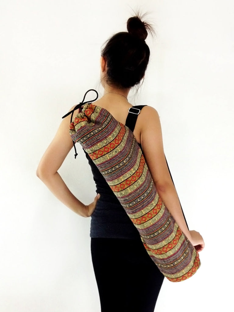 Handmade Yoga Mat Bag Yoga Bag Sports Bags Tote Yoga Sling bag Pilates Bag Pilates Mat Bag Woven Cotton bag (WF6)