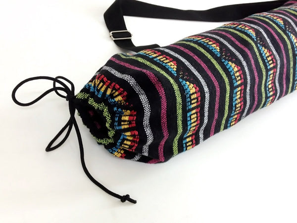 Thai Handmade Woven Yoga Mat Bag Sports Bags Pilates Mat Bag (WF5), VeradaShop, HaremPantsThai