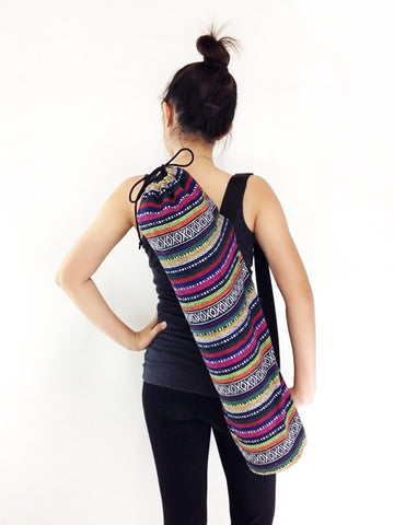 Handmade Yoga Mat Bag Yoga Bag Sports Bags Tote Yoga Sling bag Pilates Bag Pilates Mat Bag Woven Cotton bag (WF11)