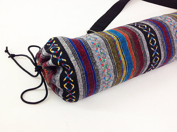 Thai Handmade Woven Yoga Mat Bag Sports Bags Pilates Mat Bag (WF14), VeradaShop, HaremPantsThai