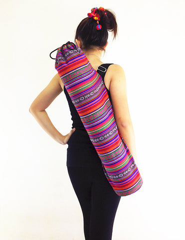 Handmade Yoga Mat Bag Yoga Bag Sports Bags Tote Yoga Sling bag Pilates Bag Pilates Mat Bag Woven Cotton bag (FF3)