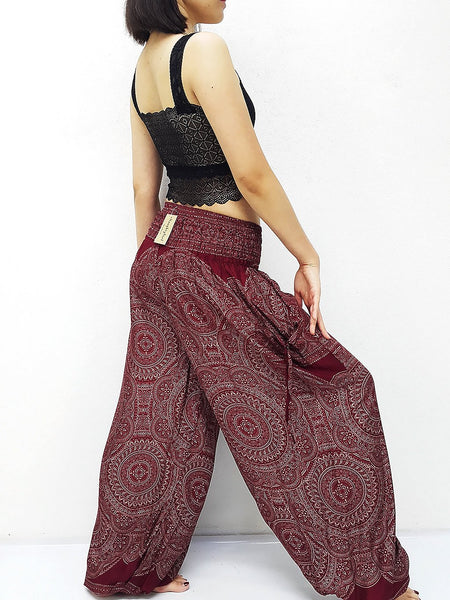 PLUS SIZE XXL Women Trouser Pants Yoga Pants Aladdin Pants Maxi Pants Boho Pants Gypsy Pants Rayon Clothing Trouser Red (TS259)