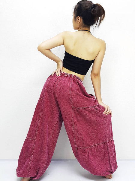 Red Harem Pants Bleached Cotton Pants Unisex Pants Aladdin Pants Maxi Pants Baggy Pants Gypsy Pants Trouser Cotton Pants Boho Pants (LCT5)