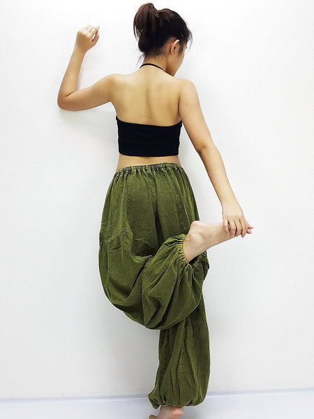Green Harem Pants Bleached Cotton Pants Unisex Pants Aladdin Pants Maxi Pants Baggy Pants Gypsy Pants Trouser Cotton Pants Boho Pants (LCT2)