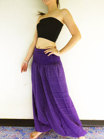 Handmade Harem Pants Cotton Boho Pants Violet (HC40)