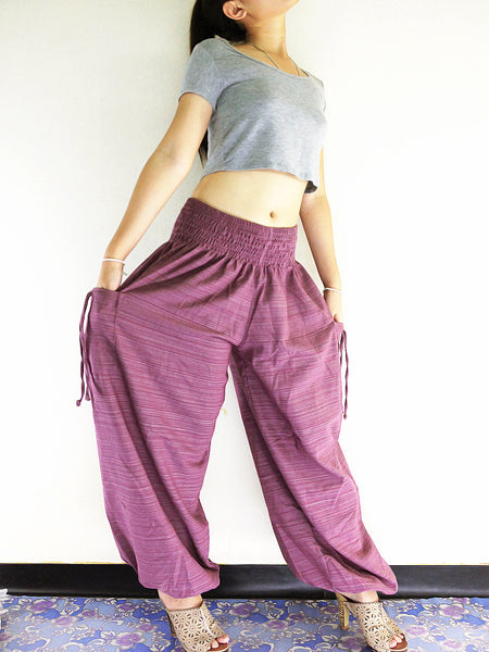 Thai Women Clothing Natural Cotton Trousers Comfy Pink Purple (TCC23)