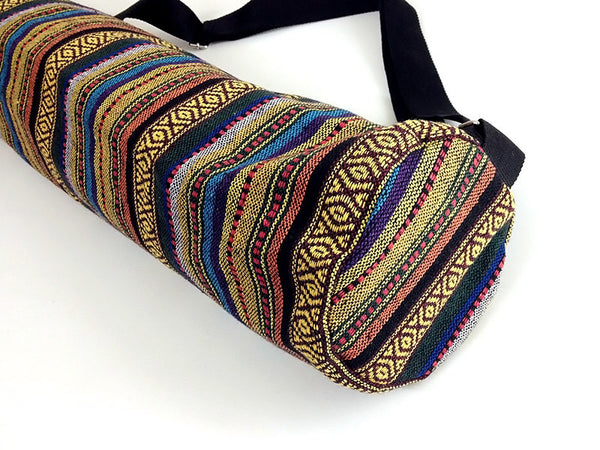 Thai Handmade Woven Yoga Mat Bag Sports Bags Pilates Mat Bag (WF40), VeradaShop, HaremPantsThai