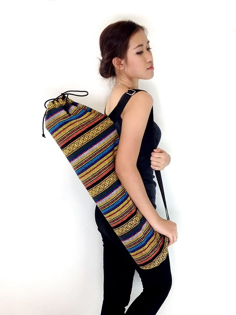 Handmade Yoga Mat Bag Yoga Bag Sports Bags Tote Yoga Sling bag Pilates Bag Pilates Mat Bag Woven Cotton bag (WF40)