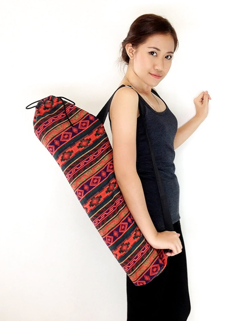Handmade Yoga Mat Bag Yoga Bag Sports Bags Tote Yoga Sling bag Pilates Bag Pilates Mat Bag Woven Cotton bag (WF45)