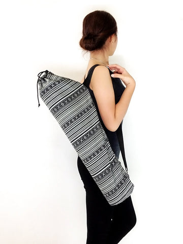 Handmade Yoga Mat Bag Yoga Bag Sports Bags Tote Yoga Sling bag Pilates Bag Pilates Mat Bag Woven Cotton bag (FF1)